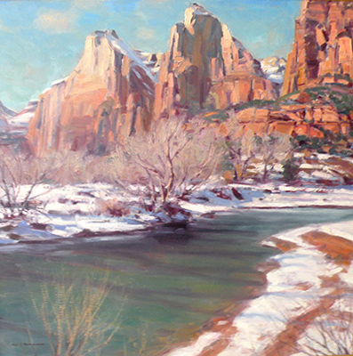 "Winter in Zions | 30""x30"" 