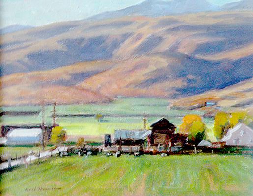 "Springdale Farm | 9""x12"" | private collection"