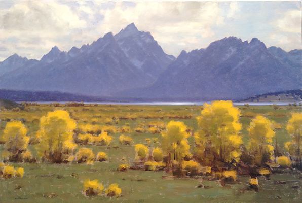 "Teton Fall | 36""x48"" | private collection"