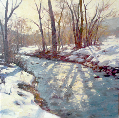 "Hobble Creek Stream | 30""x30"" 