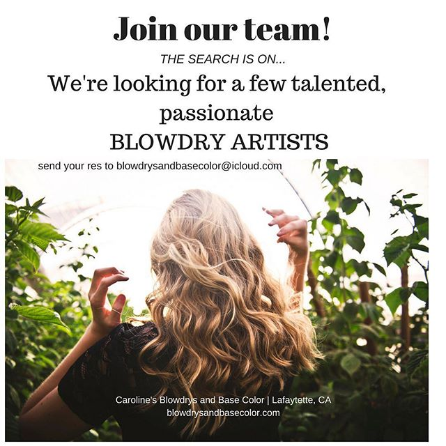 Know anyone who LOVES making people pretty? Come play. 😃#blowdrybar #makeupartist #hairstylist #walnutcreekstylist #walnutcreekhair #eastbayhairstylist