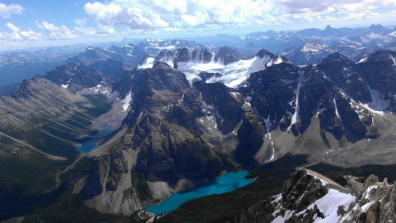View from the summit of Mt. Temple, Banff National Park
