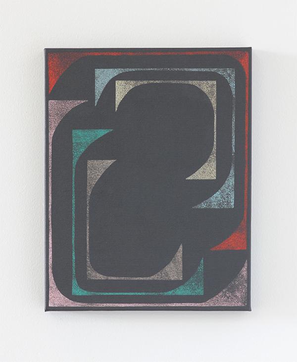 "Untitled  Acrylic on linen 14"" x 11"" x 1""/2017"
