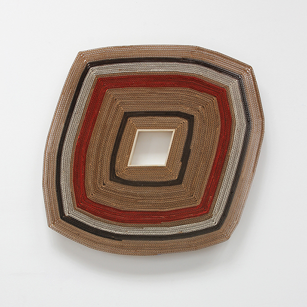 "Untitled  Cardboard, wood, acrylic, adhesive 30"" x 30"" x 2"" / 2018"