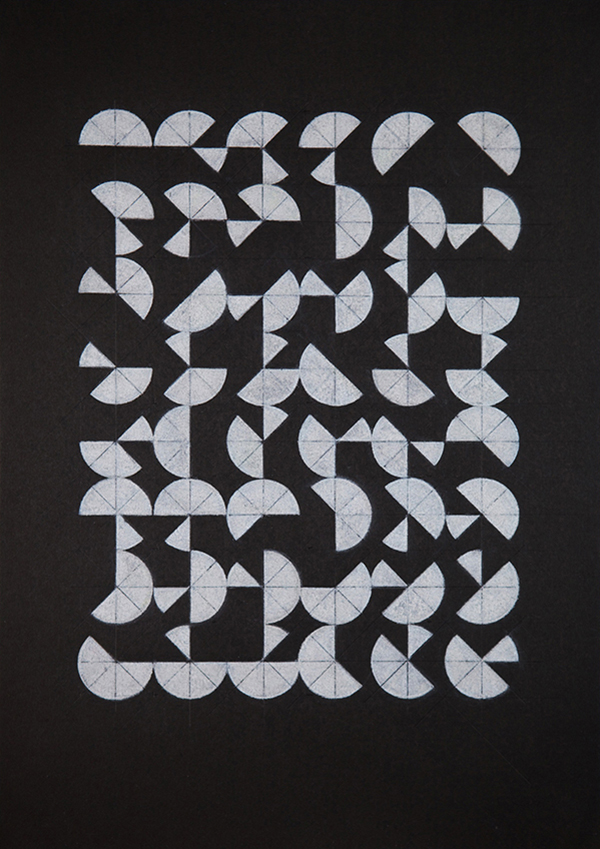 "The Syntax of Eight: Sequence  Pencil on paper 12.5"" x 9"" / 2010"