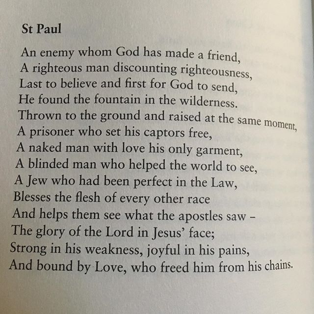 Beautiful poem on Paul in an extraordinary volume of short sonnets by @uitemalcolm3774