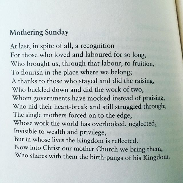 Happy Mother's Day! https://malcolmguite.wordpress.com/2017/03/26/mothering-sunday-a-sonnet-3/