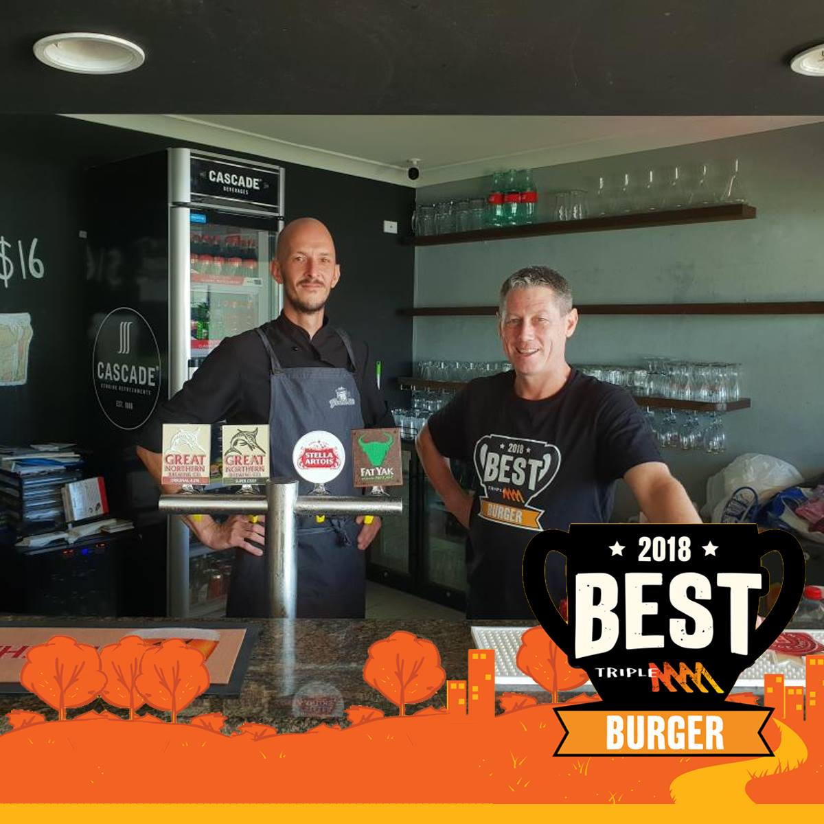 Yankee D's Wins Cairns Best Burger. - Picture Source: Triple M Radio Facebook