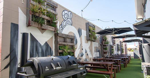 Texas Offset Smoker - Catch Dallas smoking meats on this in their laneway bar and eatery.