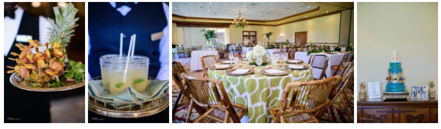 Bluegrass Chic - Tropical Centerpieces and White Floral