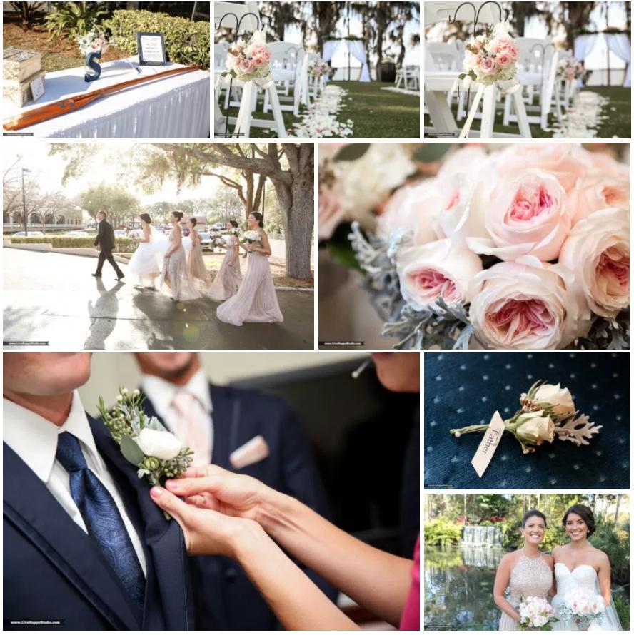 Bluegrass Chic - Blush and navy wedding