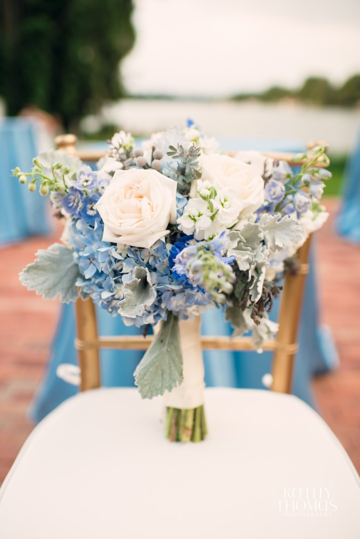 Bluegrass Chic - blue and white bouquet