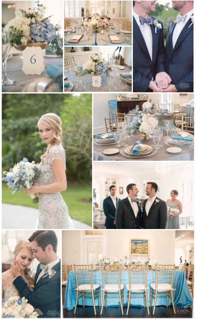 Bluegrass Chic - Capen House Blue and White Wedding
