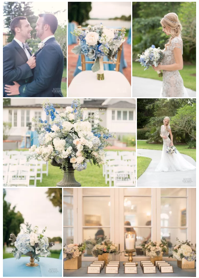 Bluegrass Chic - Capen House Blue and Gray Wedding
