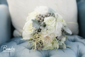 Bluegrass Chic - White and Gray Bridal Bouquet
