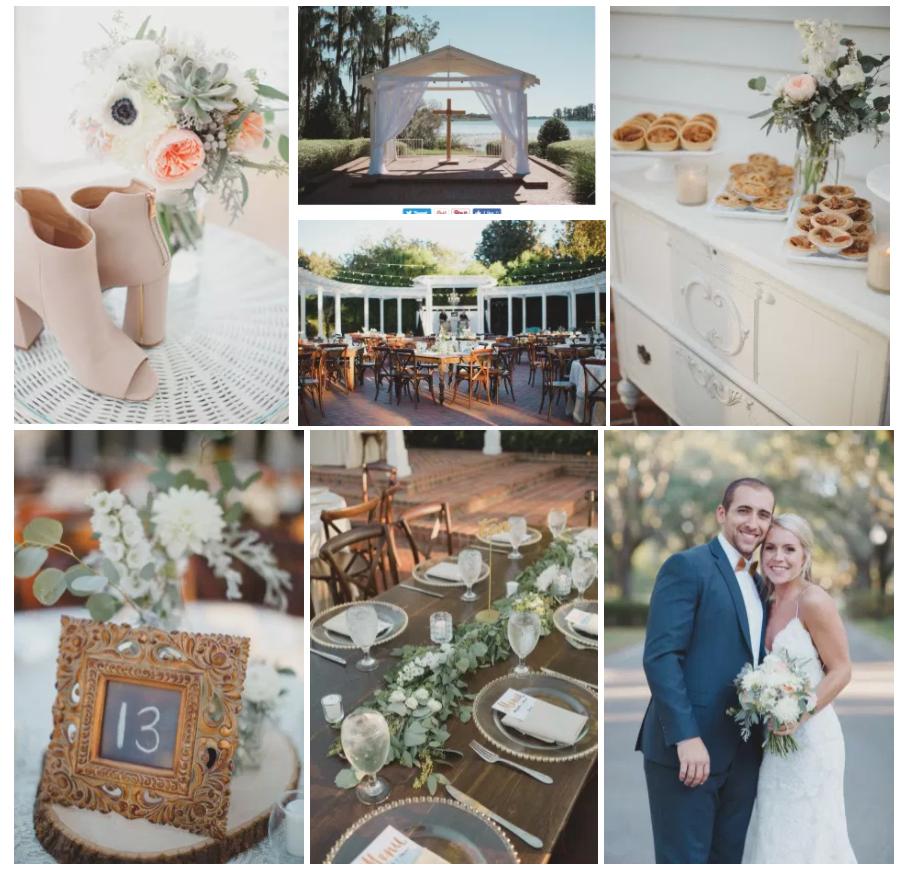 Bluegrass Chic - Peach and White wedding