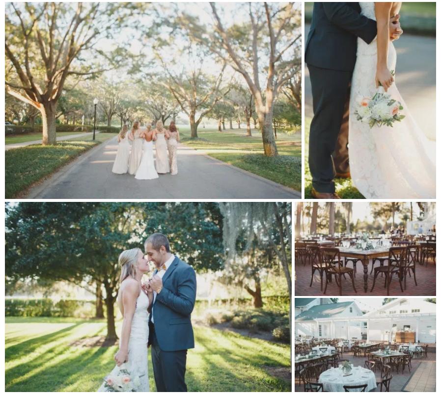 Bluegrass Chic - Cypress Grove Wedding in Peach