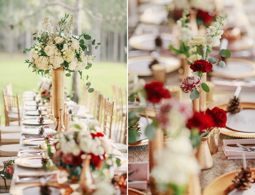 Bluegrass Chic - Burgundy and White Reception Decor
