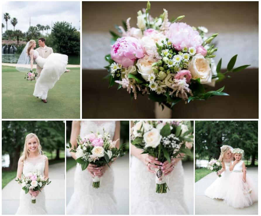 Bluegrass Chic - Blush Bridal Bouquet