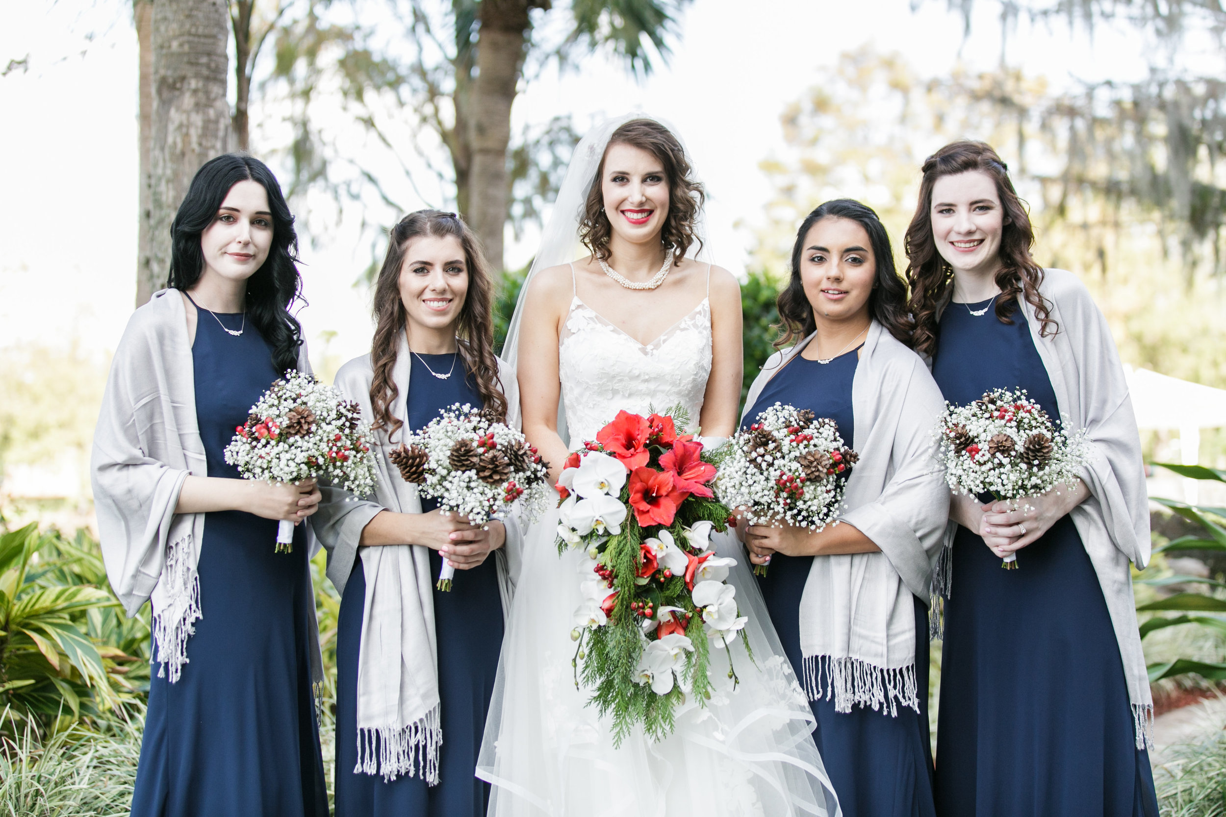 Bluegrass Chic - Orchid and Poinsettia bouquet