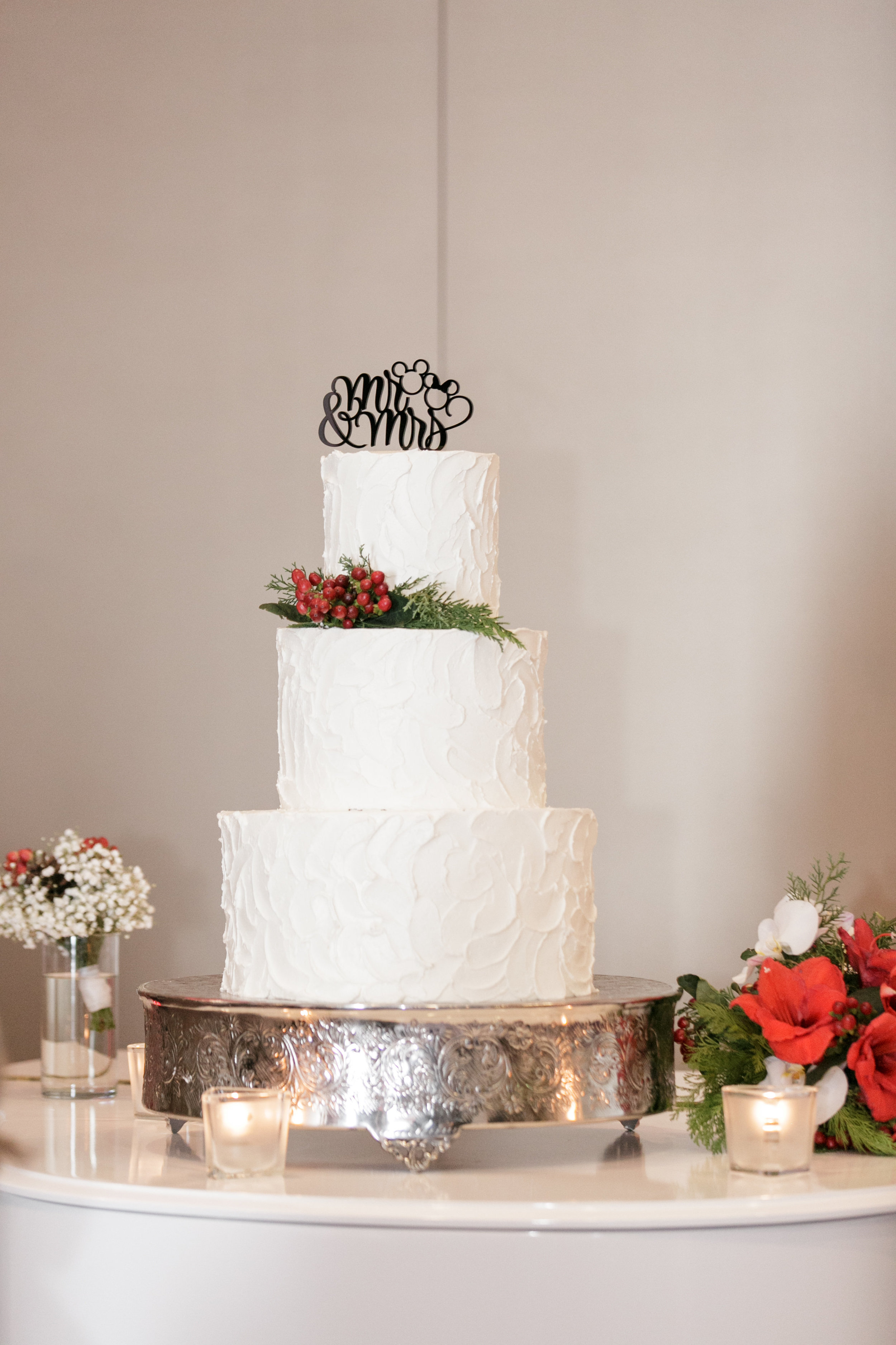 Bluegrass Chic - Christmas Wedding Cake