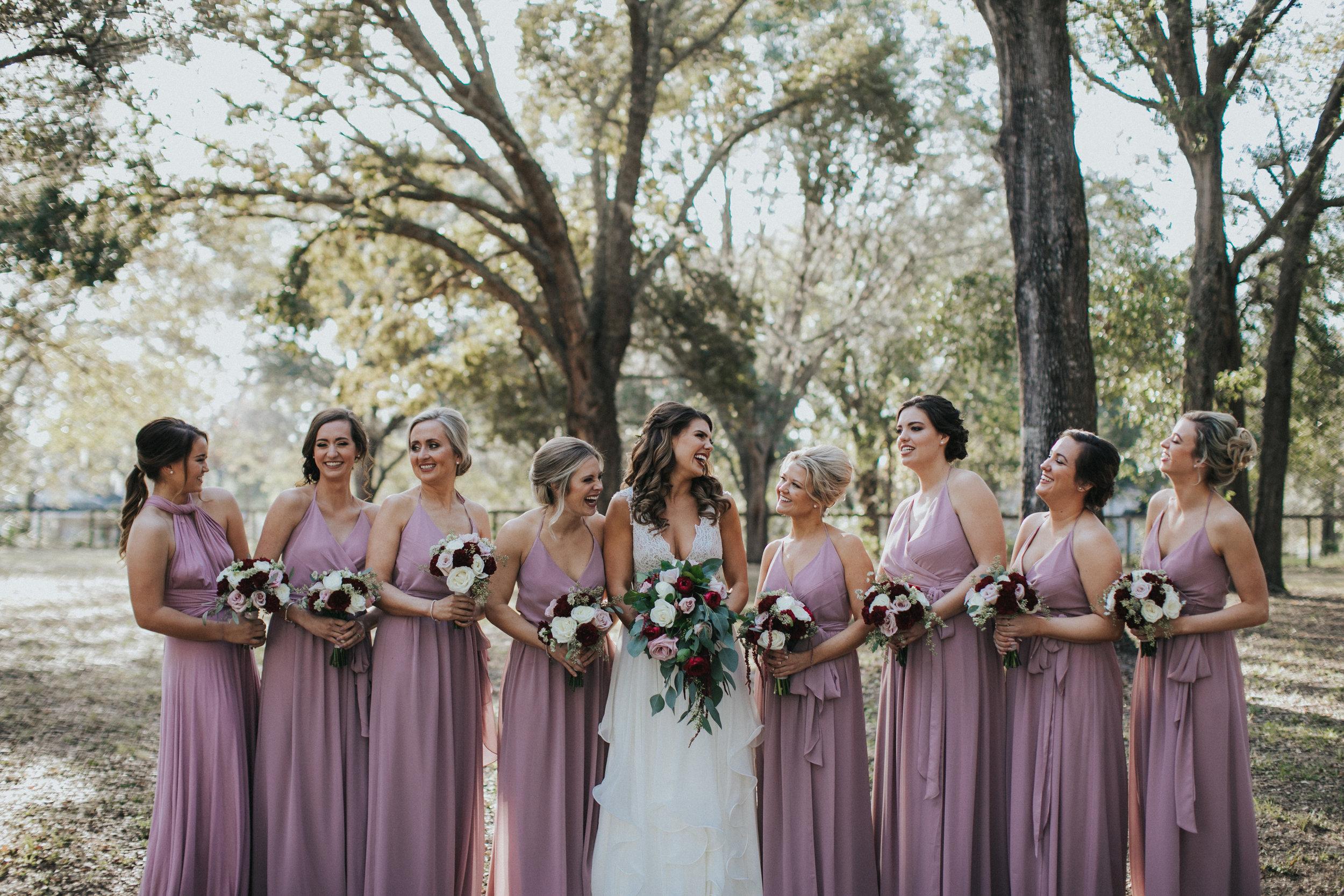 Bluegrass Chic - Dusty Rose Bridesmaids