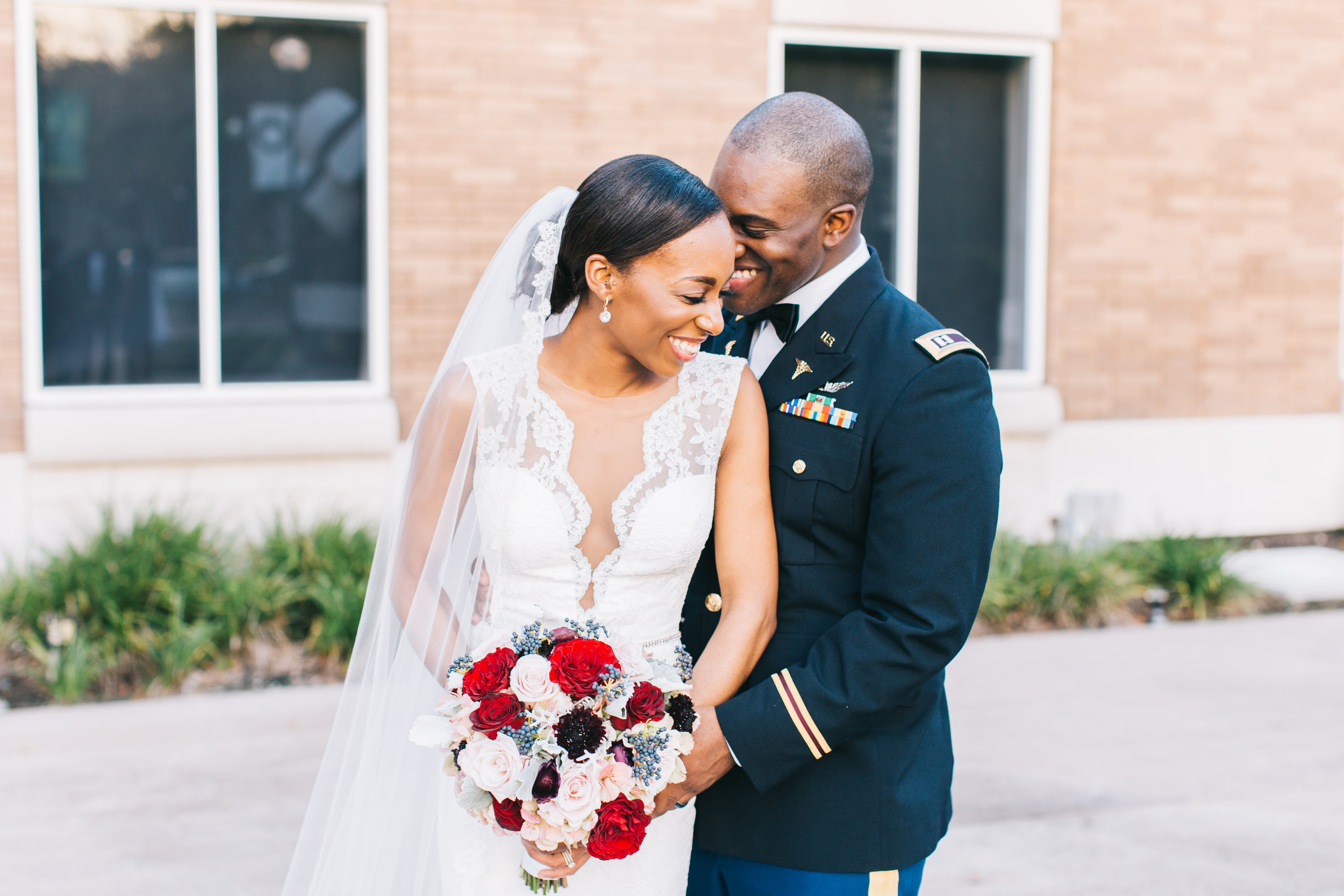 Bluegrass Chic - Army Wedding Bride and Groom