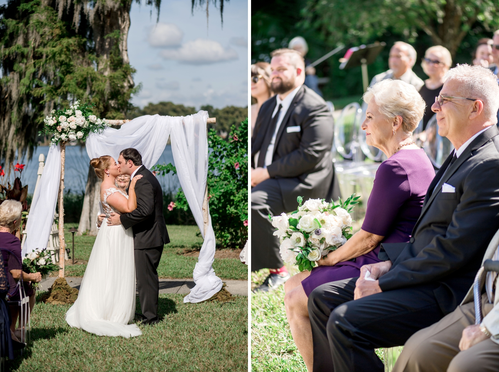 Bluegrass Chic - Ceremony Arch first Kiss