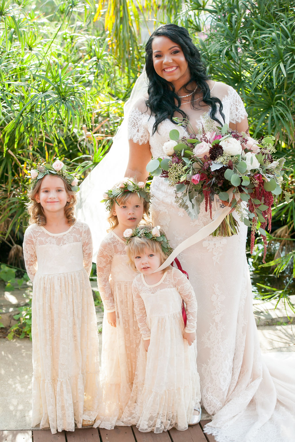 Bluegrass Chic - Bride and her flower girls