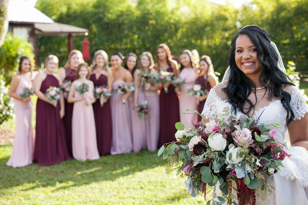 Bluegrass Chic - Berry colored bridesmaids dresses