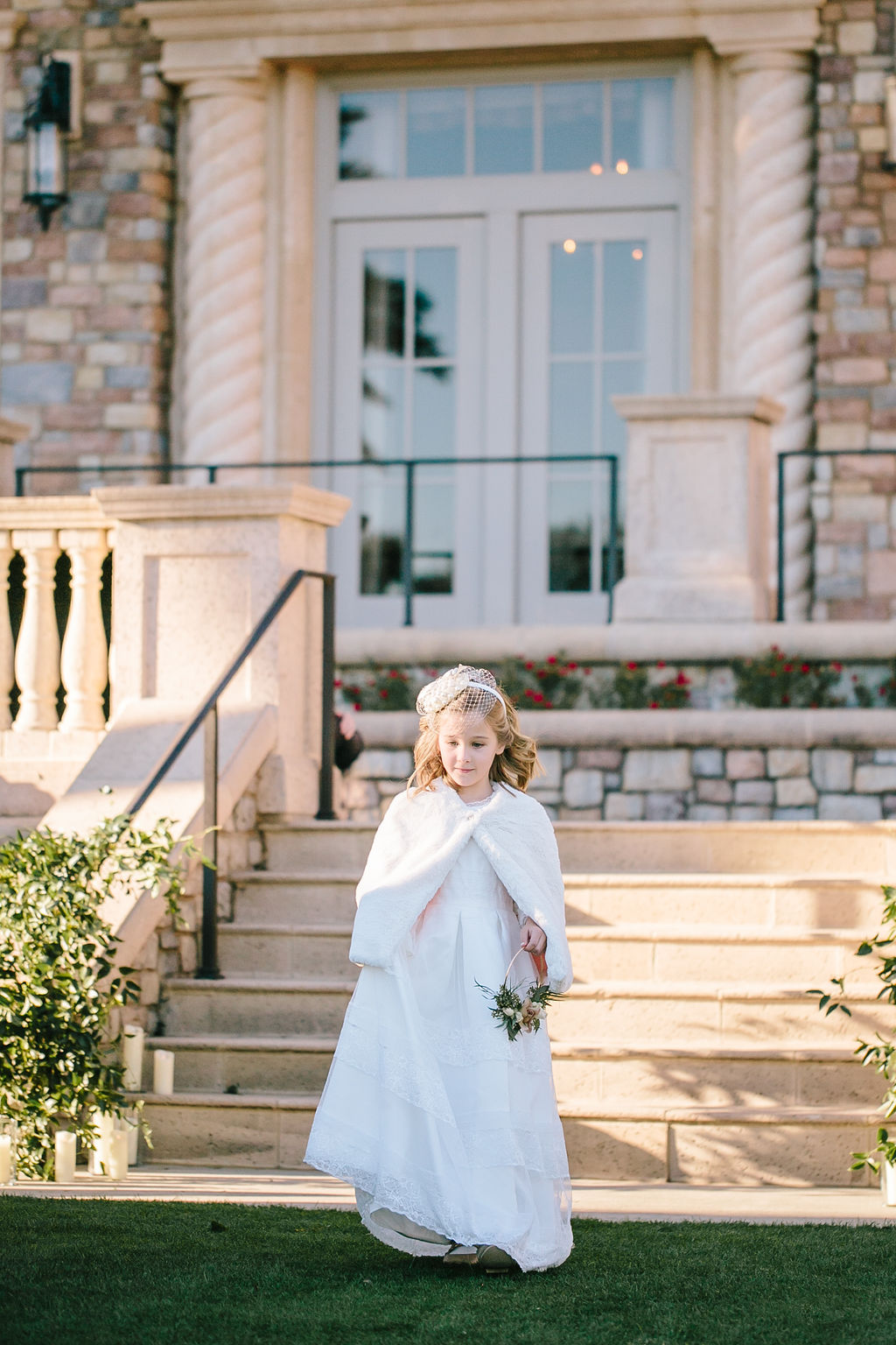 Bluegrass Chic - Flower Girl with fur stole