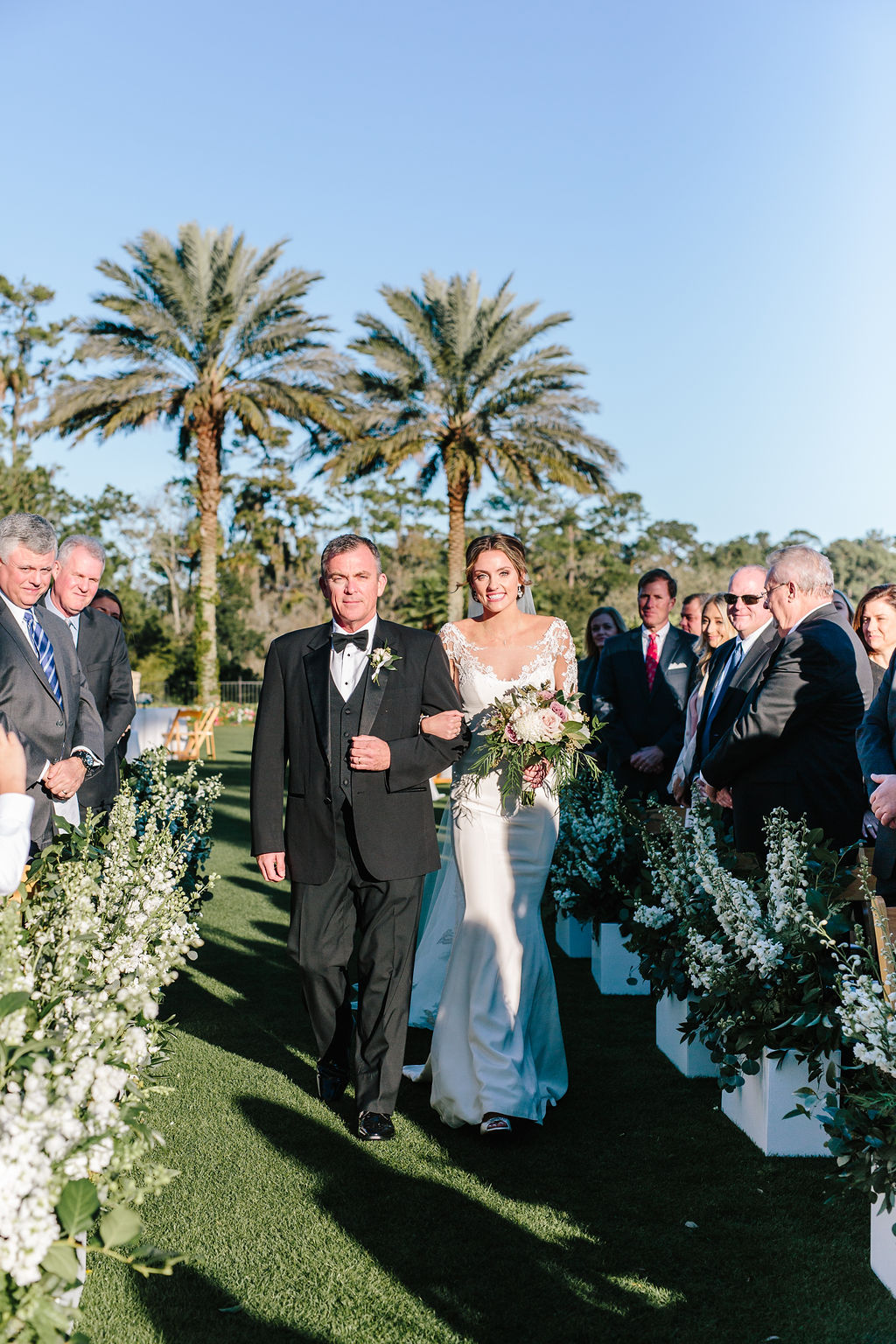 Bluegrass Chic - Bride with father walking down aisle