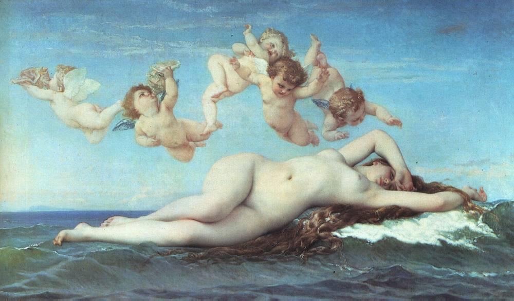 Birth of Venus  by Alexandre Cabanel, 1863.