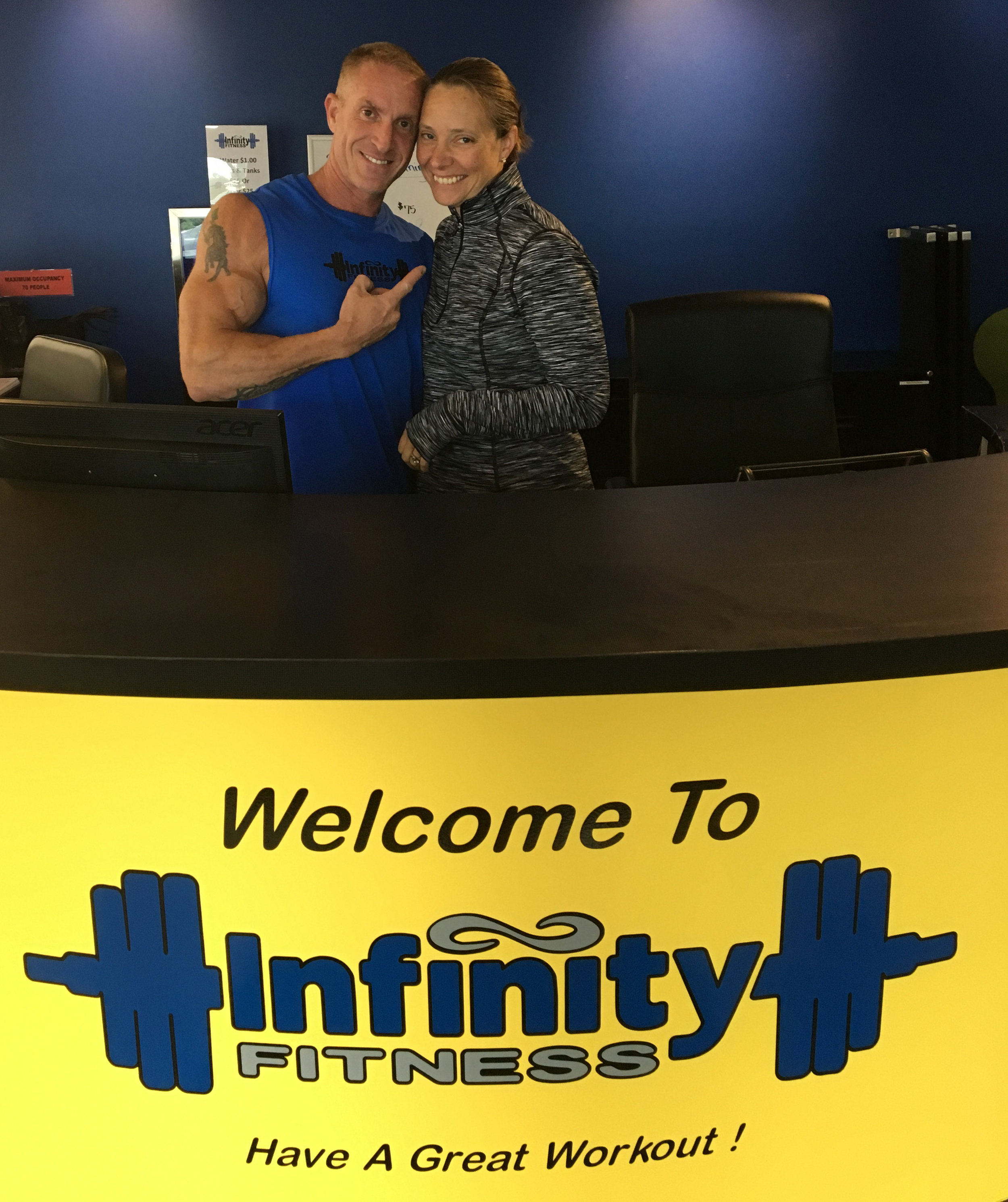 Darren and Debbie Levorce, owners of Infinity Fitness in Falmouth, MA