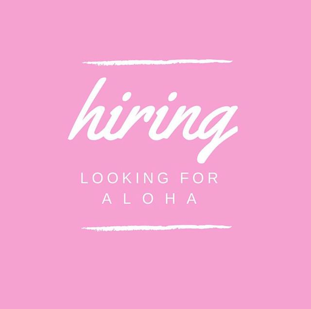 """We are now hiring additional kitchen help, grill cooks, prep and cashier positions.If you have experience in these areas and feel you do things with """"Aloha"""" please send resume to sideofaloha@gmail.com.  Include a short paragraph of what position you are applying for and why you are passionate about food and customer service.  Mahalo!"""