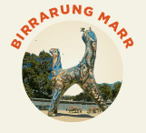 Birrarung Marr is a park-land next to Federation square. Birrarung means 'river of mists' and Marr refers to the side of the river in the language of the Wurundjeri people, the traditional owners of Melbourne.