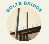 Bolte Bridge was opened in 1999 and is a twin cantilever bridge.