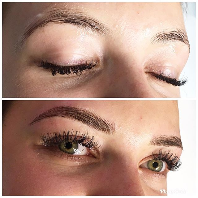 Microblading at The Arch Academy coming together Day 2 with this gorgeous client @brittactive @beautycollectiveco @thearchstylist with arch masters Yasmin & Sasha 💫 Thanks for being my first model Britt 😘
