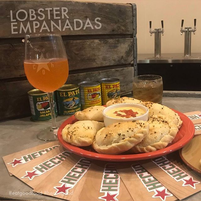 . Lobster Empanadas at HECHO: The Restaurant, Opening soon at 411 South Main St, City of Fort Worth, State of Texas . . . . . . . #igtexas #fwfoodies #empanadas #eater