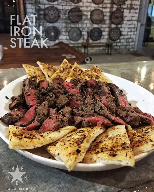 . The Flat Iron Steak at HECHO: The Restaurant . Opening soon at 411 South Main St, City of Fort Worth, State of Texas . . . . . . . .
