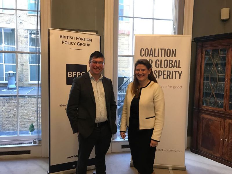 Tom Cargill, Executive Director of the British Foreign Policy Group and Theo Clarke, our CEO, co-hosted the event