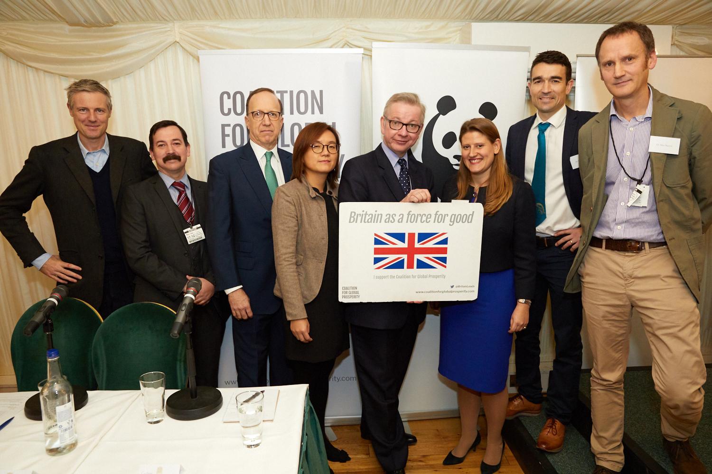 Zac Goldsmith MP, Captain Luke Townsend MA, David Fein, Dr Aili Kang, Rt Hon Michael Gove MP, Theo Clarke, Dr Niall McCann, Dr Mike Barrett