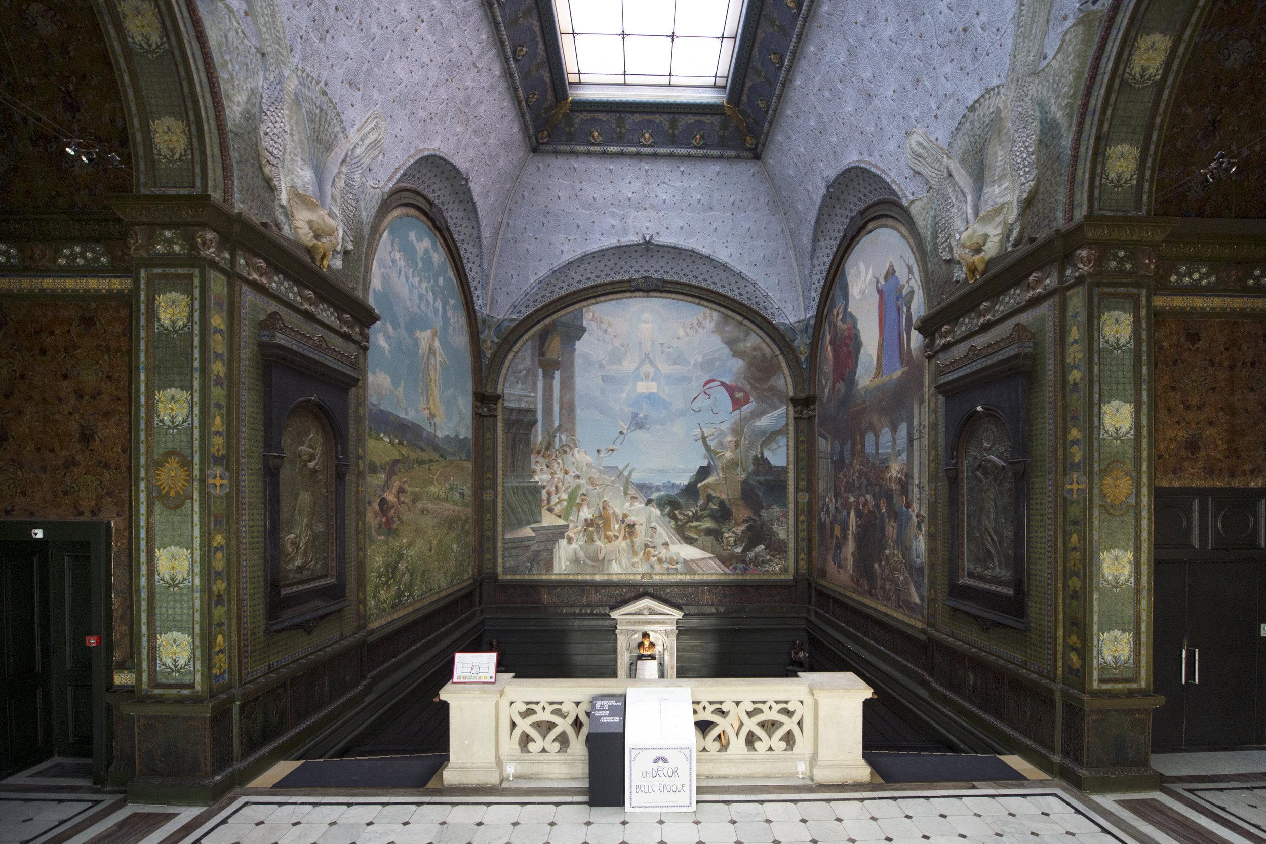 Vue d'ensemble de la cage d'escalier du Musée d'art et d'histoire de Neuchâtel