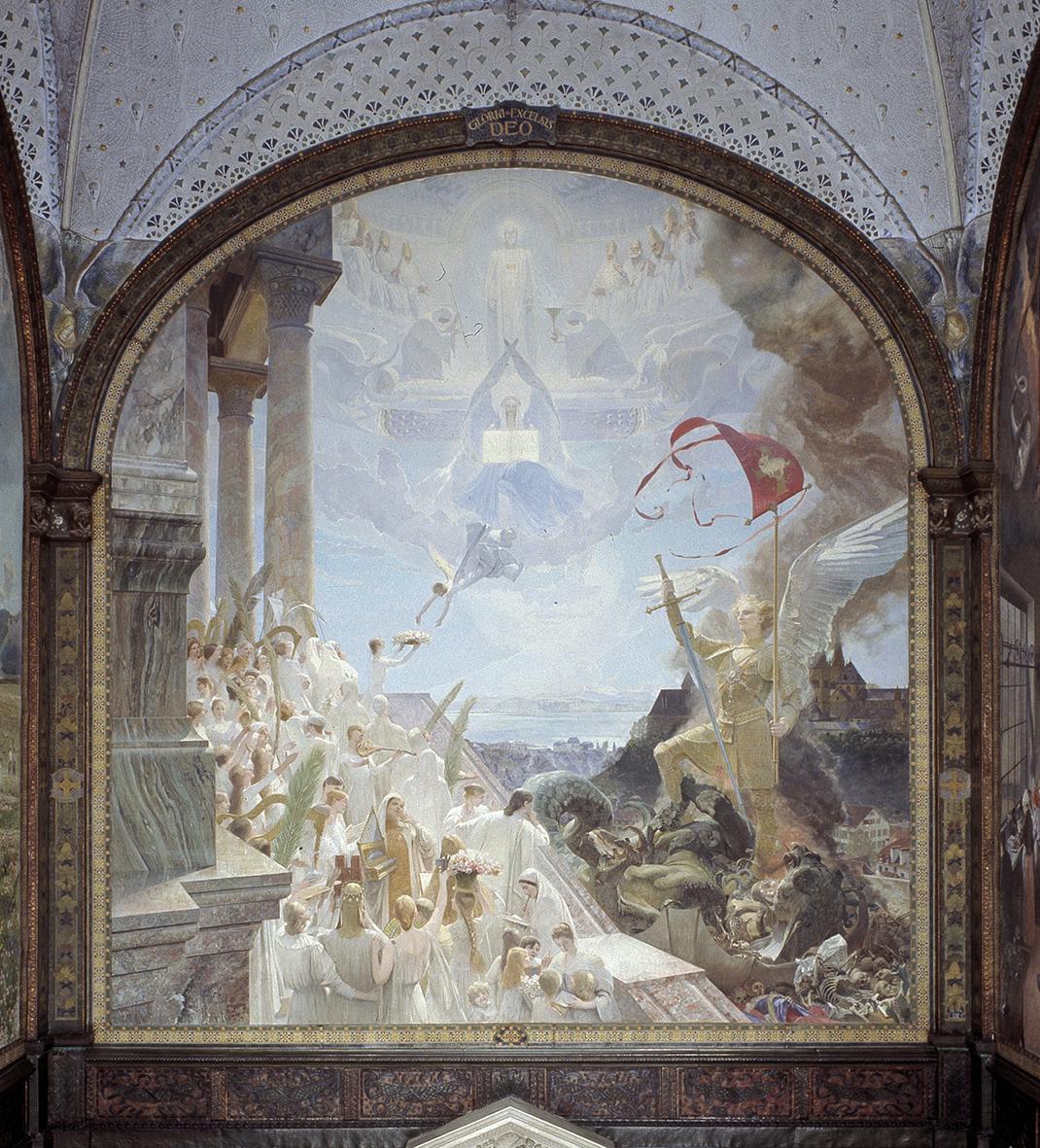 Panneau de Neuchâtel, réalisé par Léo-Paul Robert