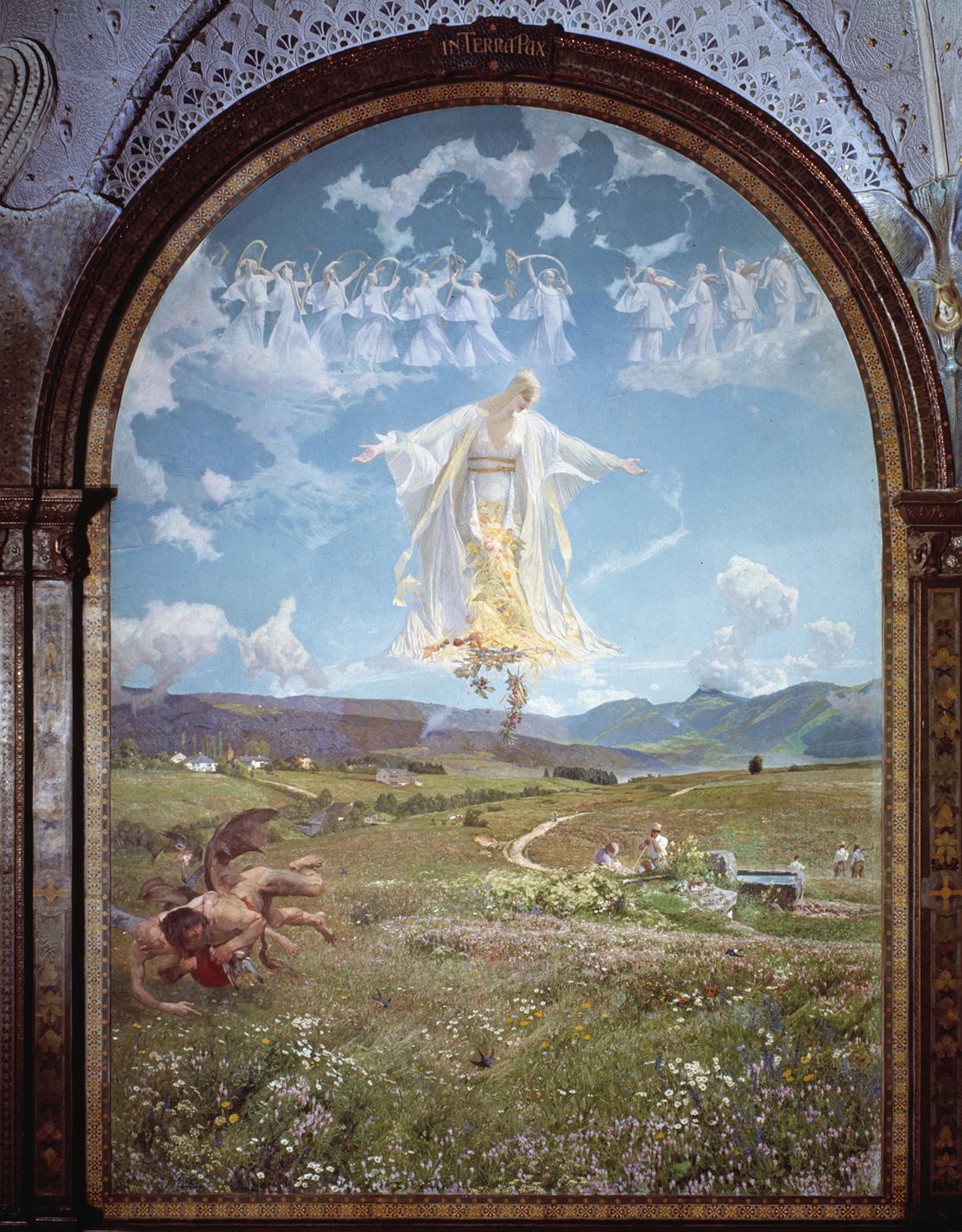 Panneau du Val-de-Ruz, réalisé par Léo-Paul Robert
