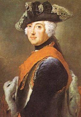 Frédéric II de Prusse (1712-1786), amateur d'art, amoureux de la littérature antique et française du 17ème siècle, mais également grand musicien (flûte traversière) ayant composé plusieurs oeuvres de grande qualité.
