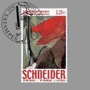 Timbre postal de € 2.25 édité en l'honneur de Gérard Schneider (1896 - 1986)