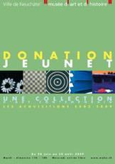 """Affiche de l'exposition """"Donation Jeunet"""""""