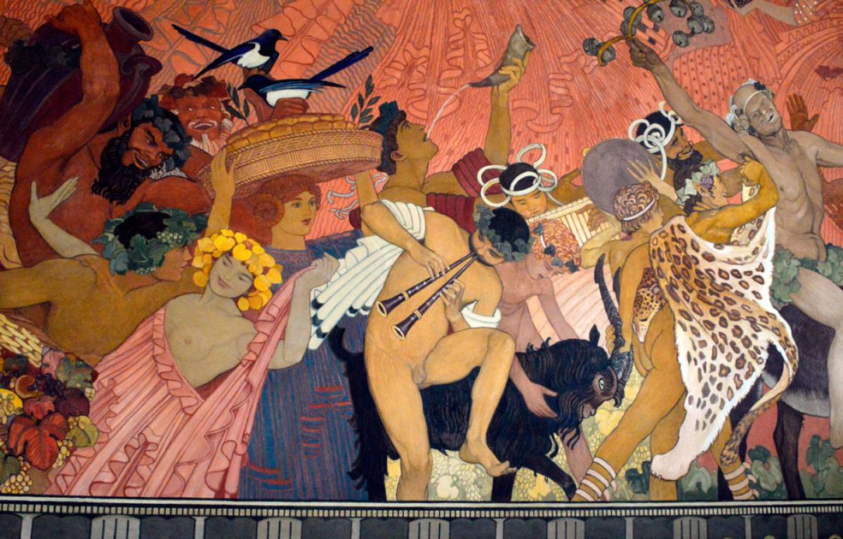 Fresque de Ernest Biéler au Musée Jenisch de Vevey