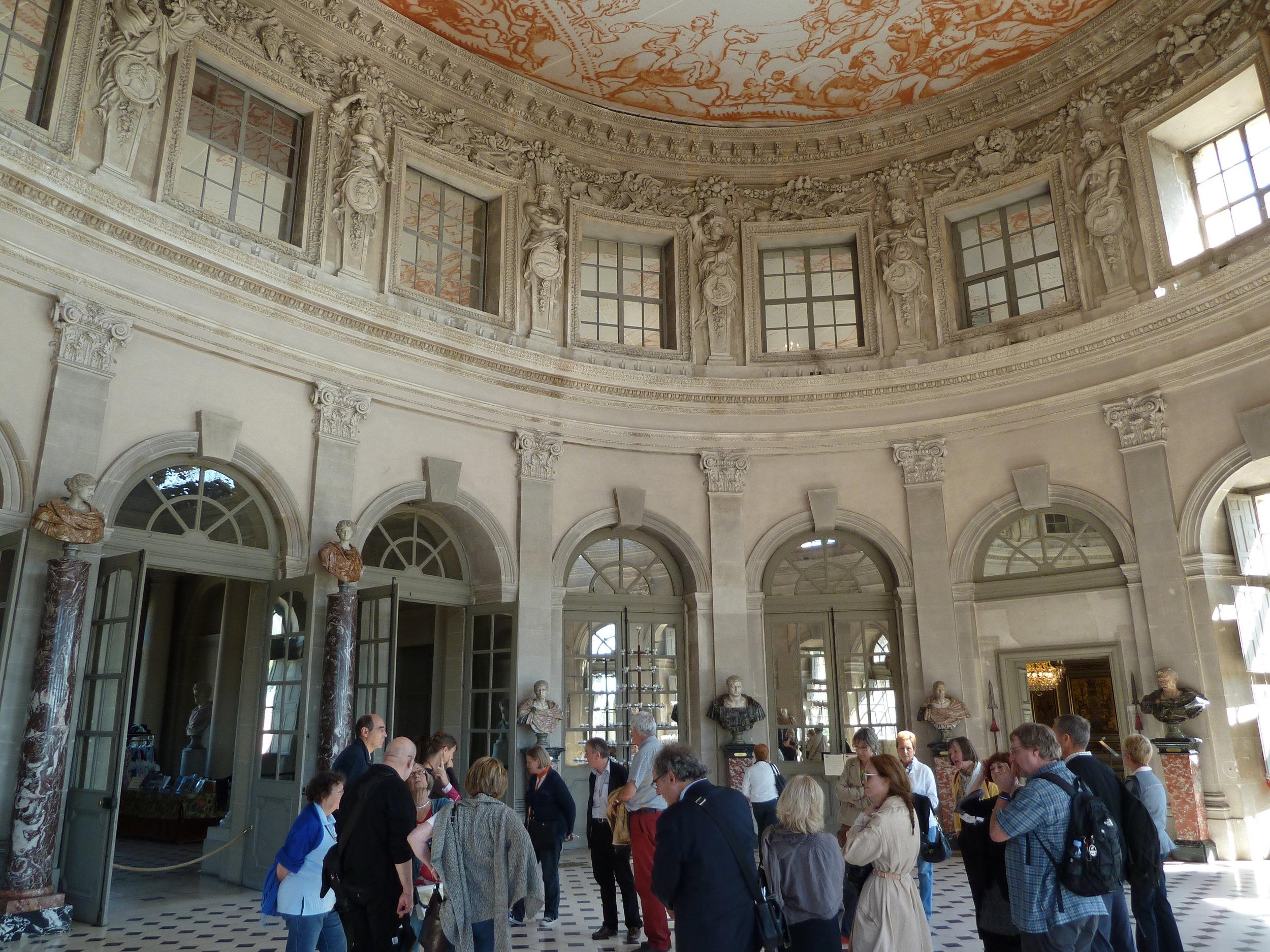 Groupe au Château de Vaux-le-Vicomte